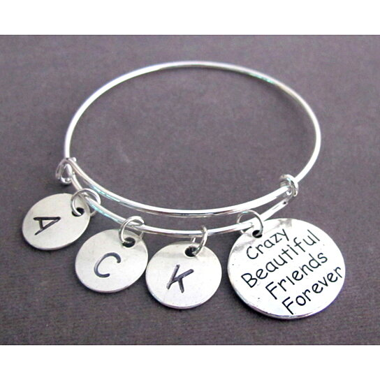 Crazy Beautiful Friends Forever Bangle Bracelet Best Friend Bff Jewelry Friendship Bond By Fashion For Everyone