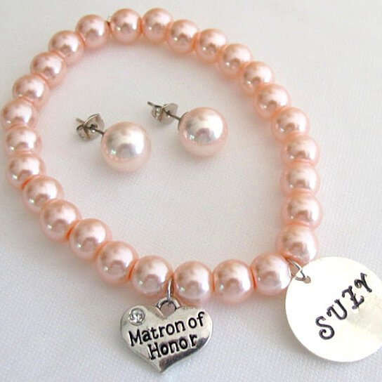 Buy Name Bracelet With Matron Of Honor Personalized