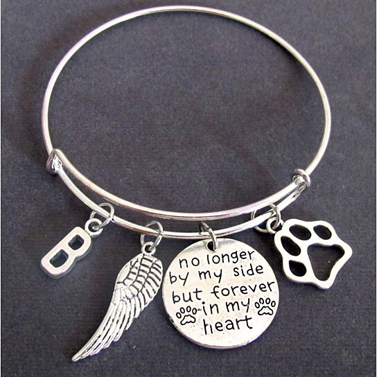 bracelet memorial prints sympathy hand personalized lauren products with shaddow paw print jewelry pet stamped