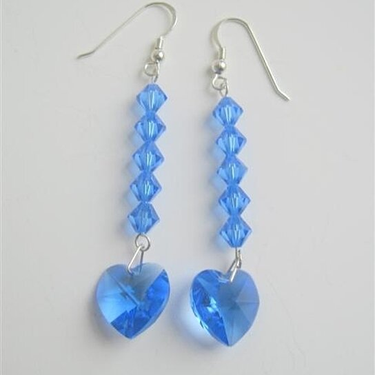 Buy Swarovski Crystal Heart Lite Sapphire Crystal Beads