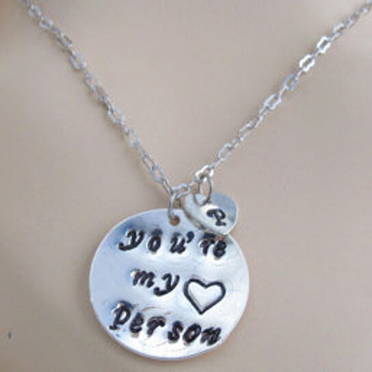 Buy You're my person, Youre my person necklace Best Friend ...