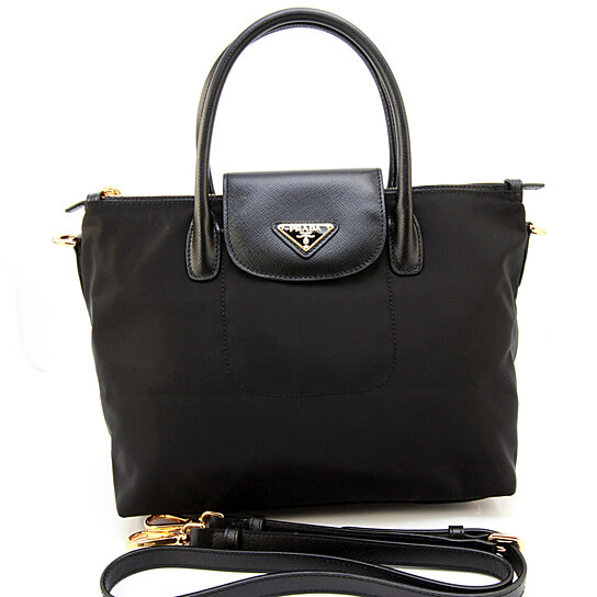 c4eee226b269 Trending product! This item has been added to cart 37 times in the last 24  hours. Prada BN2106 Tessuto Saffiano Shopping Tote Bag NYLON Nero