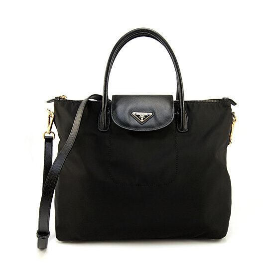 096e0f08c0896f Trending product! This item has been added to cart 21 times in the last 24  hours. Prada BN2107 Nylon Saffiano Bag Nero