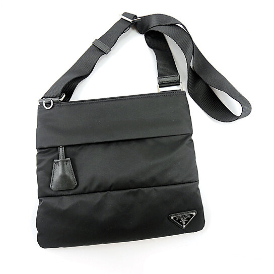 4dd7b318f829 Trending product! This item has been added to cart 96 times in the last 24  hours. Prada Vela Sport Messenger Bag BT0741 Black