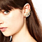 Marquise and Leaves Ear Cuff Earring