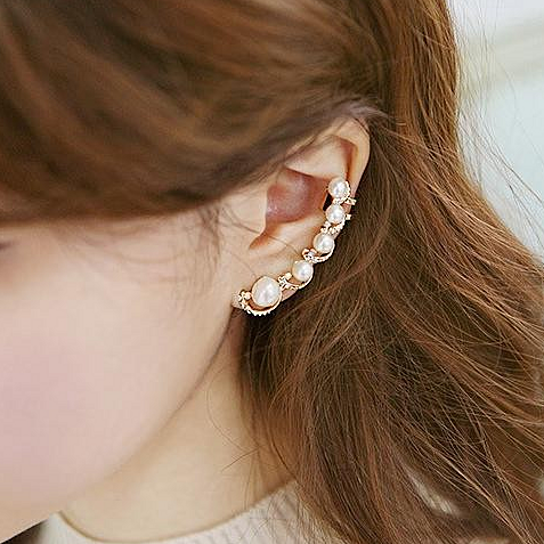 buy pearl ear cuff earring by 1 humble abode on opensky. Black Bedroom Furniture Sets. Home Design Ideas