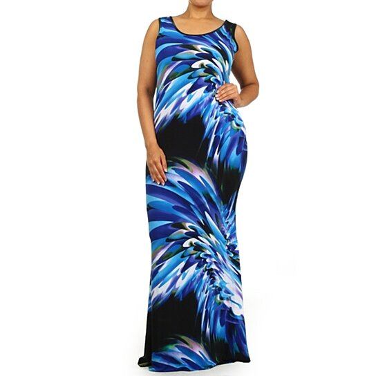 Splash n\' Sizzle Mermaid Tank Maxi Dress Plus Size