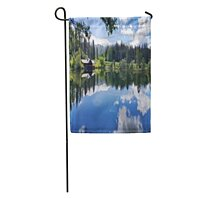 Buy Blue Cottage Lake Cabin Green Forest House Building California Camp Garden Flag Decorative Flag House Banner 12x18 Inch By Felix Honey On Dot Bo