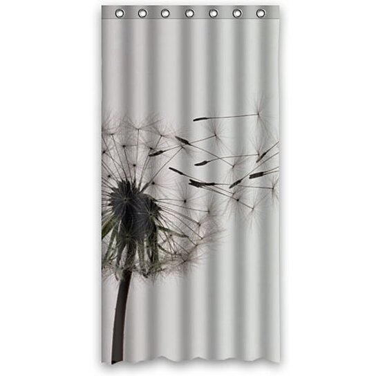 inter dandelion shower curtain polyester fabric bathroom decorative curtain size 36x72 inches