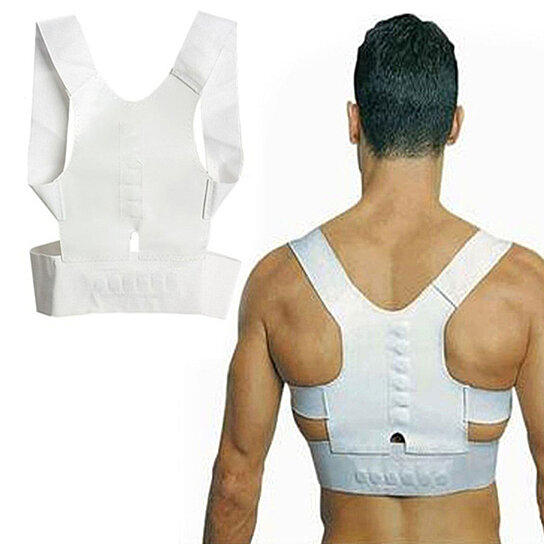 Trending product! This item has been added to cart 62 times in the last 24 hours. Magnet Posture Back Shoulder Corrector Support Brace Belt