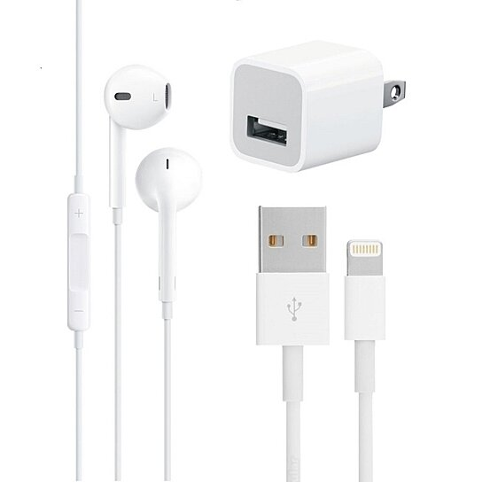 apple charger iphone 6 buy apple earpod with mic amp lightning cable amp a1385 5w 3308