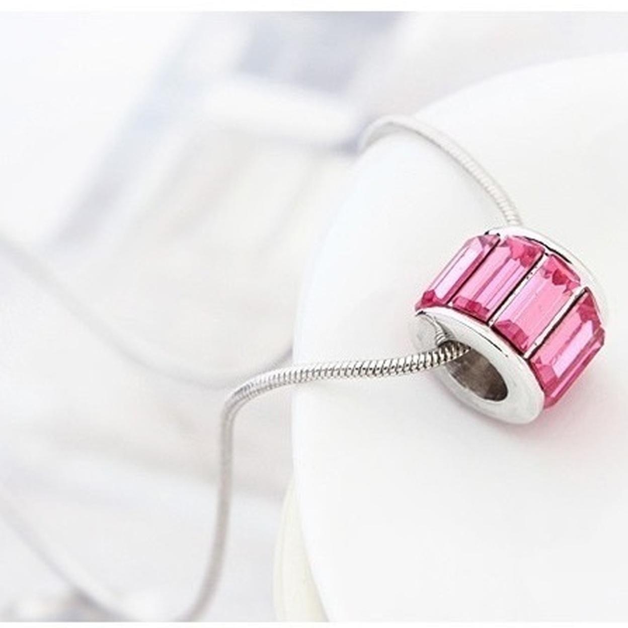 Pink Sapphire Iobi Crystals Necklace