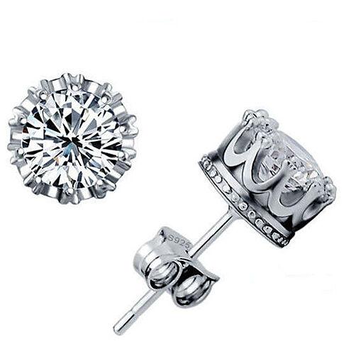 72431f120 Royal Sterling Silver IOBI Crystals Studs