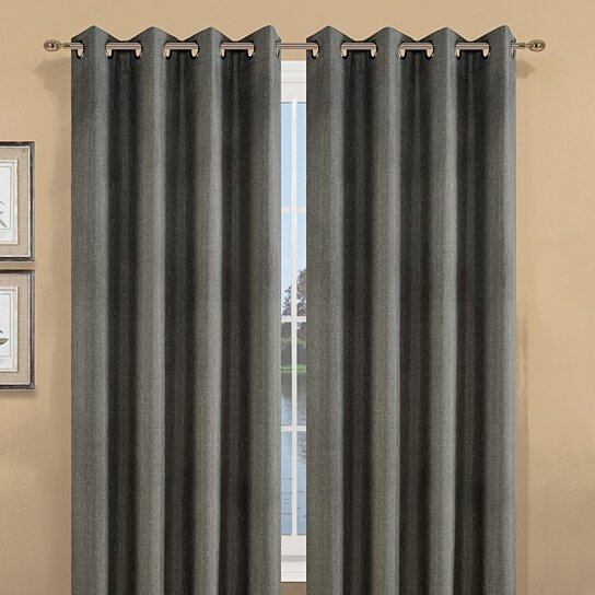Buy 2 Pieces Delano Textured Thermal Blackout Wide Width Window Curtain Grommet Panels By