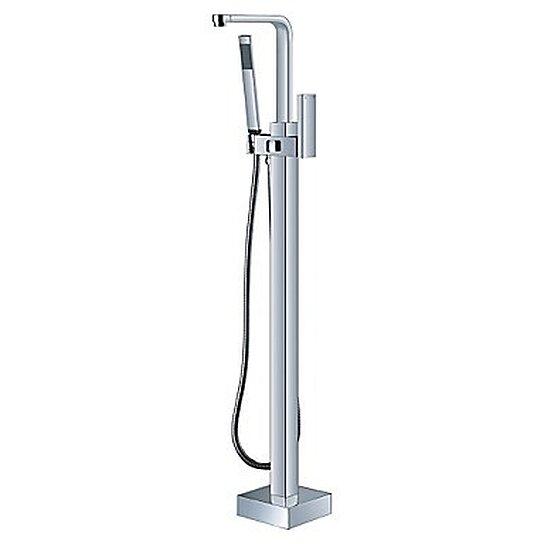 laiton massif debout moderne plancher de la douche baignoire robinet ...