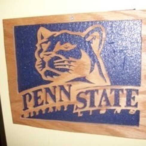 Buy penn state wall hanging by fine crafts on opensky for Penn state decorations home