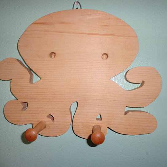 Buy Wooden Octopus Pegged Wall Hanging By Fine Crafts On
