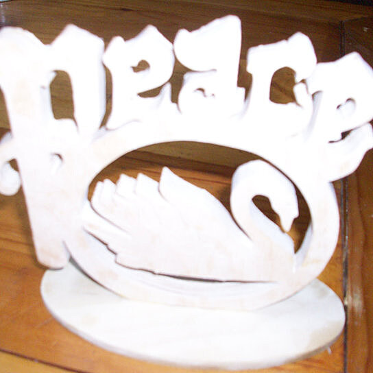 Buy wooden peace swan home decor piece by fine crafts on for Fine home decorations