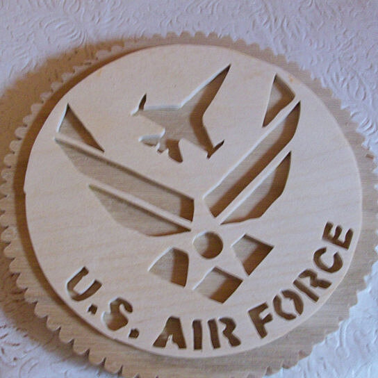 Buy wooden us air force wall hanging plaque by fine crafts for Decor 6 air force