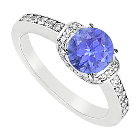 buy december birthstone created tanzanite and cubic