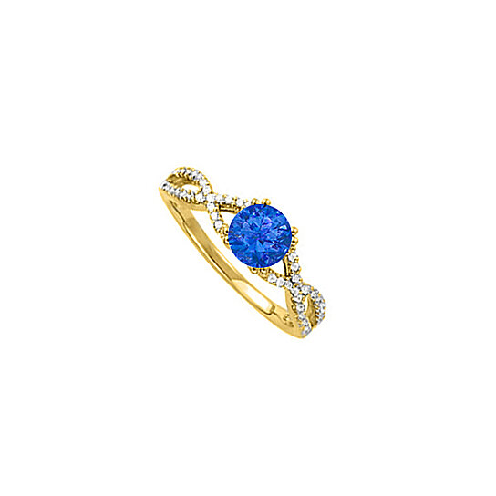 buy and sapphire criss cross shank engagement ring