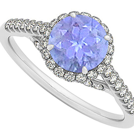 buy tanzanite and cubic zirconia specially designed