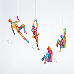4 Climbers Set- 100% hand crafted sculptures