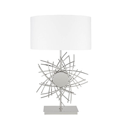 Finesse Decor- Chrome Spiral Star- 3 Brightness Settings- Table Lamp