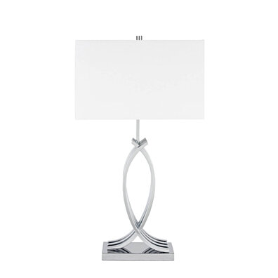 Finesse Decor- Unity in Chrome- 3 Brightness Settings- Table lamp
