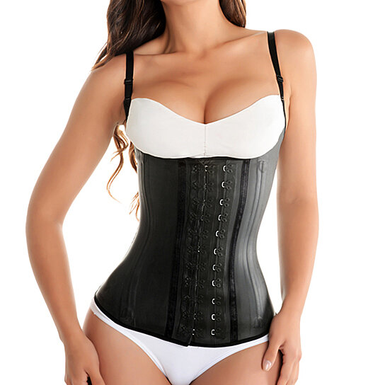 a2e07a9cd Trending product! This item has been added to cart 9 times in the last 24  hours. Fiorella Shapewear Classic Latex Semi Vest Waist Cincher Girdle  Corset ...
