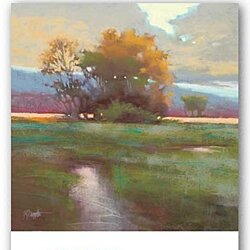 "Autumn Field by Marla Baggetta 24""x24"" Art Print Poster"