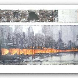 "The Gates XXVII by Christo and Jeanne-Claude 28.25""x45.5"" Art Print Poster"