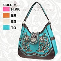 Montana West Conceal Carry Hand Bag Purse Western Turquoise