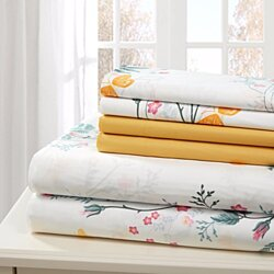 Bed sheets 6 Piece Sheet Set Hotel Luxury Bed Sheets Extra Soft Deep Pocket Wrinkle Free