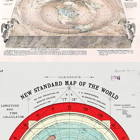 Buy Flat Earth Maps Set Gleason S Standard 24x36 Square