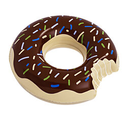 Floatie Kings Chocolate Donut Pool Float