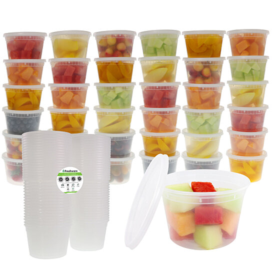Buy Freshware 36 Pack 16 Oz Plastic Food Storage Containers With