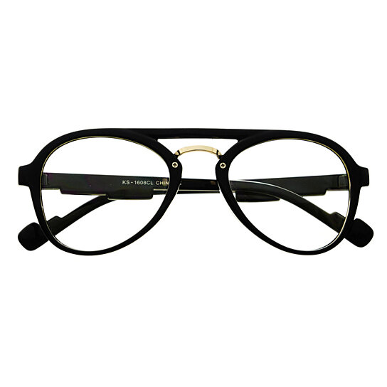 Buy Clear Lens Retro Vintage Style Aviator Eyeglasses ...