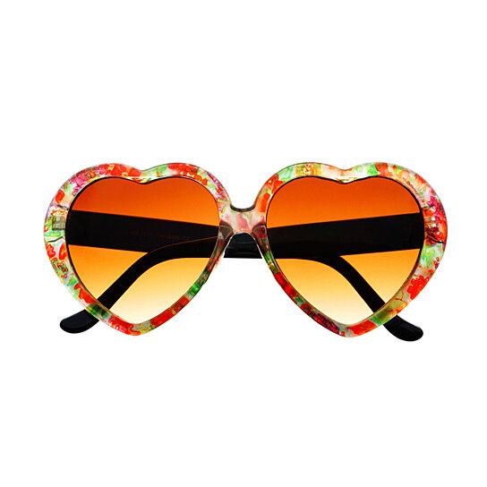 Heart Shaped Sunglasses are generally seen in casual, comfortable, and retro style. Popular brands of Heart Shaped Sunglasses are vintage, Ebay, 80s Purple, H&M, and Urban Outfitters. There are currently 98 streetstyle photos of bloggers wearing Heart Shaped Sunglasses.