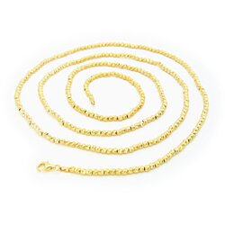 Italian Pebbles Chain Necklace dipped in 18k Gold , 36""