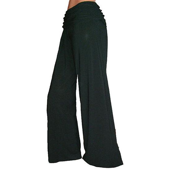 Buy Funfash Flare Long Black Gaucho Palazzo Career Pants Women Plus