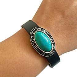 Charm to Accessorize Fitbit or Other Fitness Trackers - The GENUINE TURQUOISE CHARM to Dress Up Your Favorite Activity Tracker