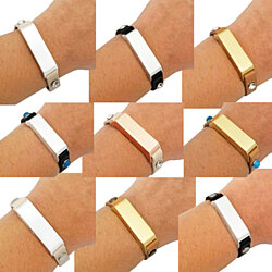 437759052cb1 The KATE Single-Strap Leather Bracelet for Fitbit Flex 2 Fitness Activity  Trackers