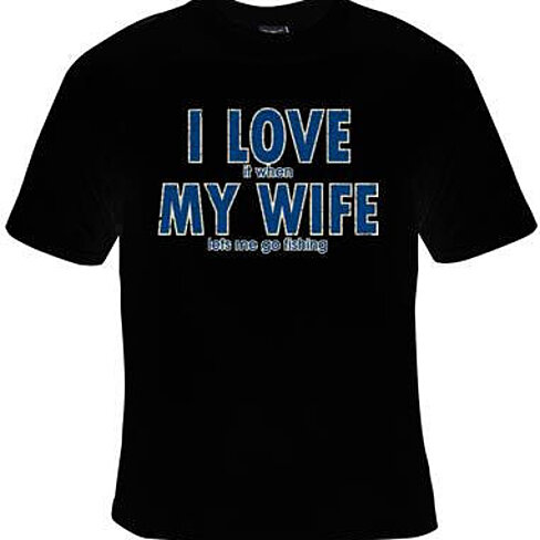 Buy i love it when my wife lets me go fishing cool funny for Travel t shirt design ideas