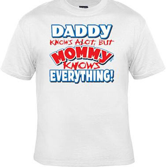 Buy Mommy Knows Everything Screen Printed Cool Funny
