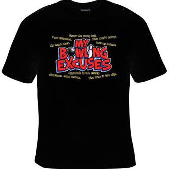 Buy My Bowling Excuses Screen Printed Cool Funny Humorous