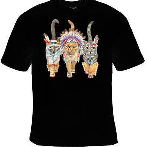 Buy T Shirt Native American Cat Indian Cats Tshirts