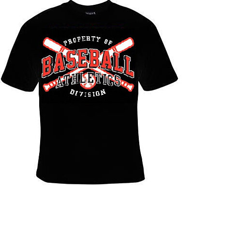Buy t shirts property of baseball athletics divison for Property of shirt designs