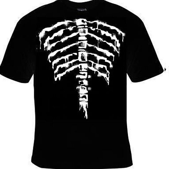 Buy T Shirts Skeletons Ribs Bones Back Bone Skulls Body