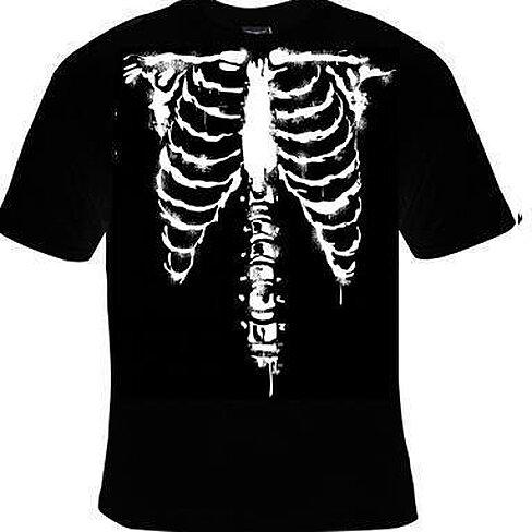 Buy T Shirts Skeletons Ribs Bones Front Rib Bone Skulls